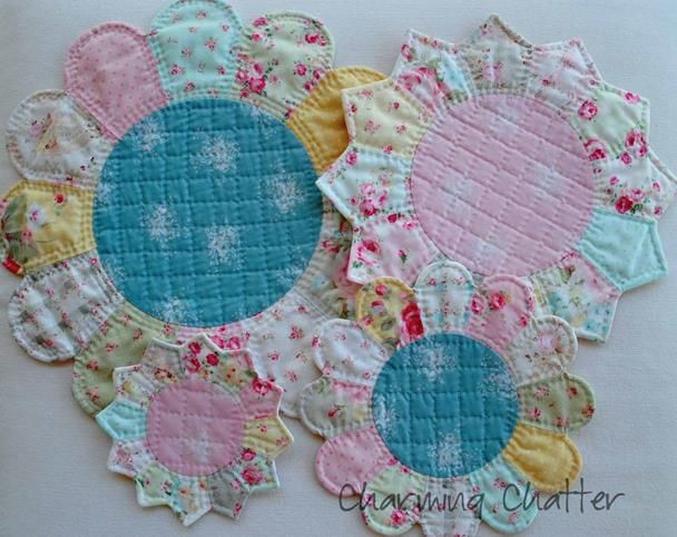 "Before we get started today with our fun little trivets and hot pads tutorial, I wanted to mention that I have now converted all of the quilt along quilt patterns (""Studly & The Mrs., ""Simple Things"", ""Half-Pint"" and ""Between Charming..."