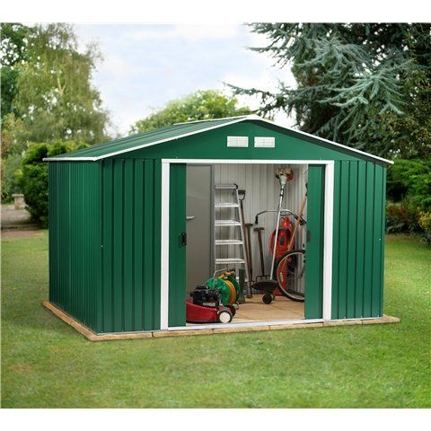 Oslo 10FT x 8FT VALUE METAL SHED (3.21m x 2.42m)