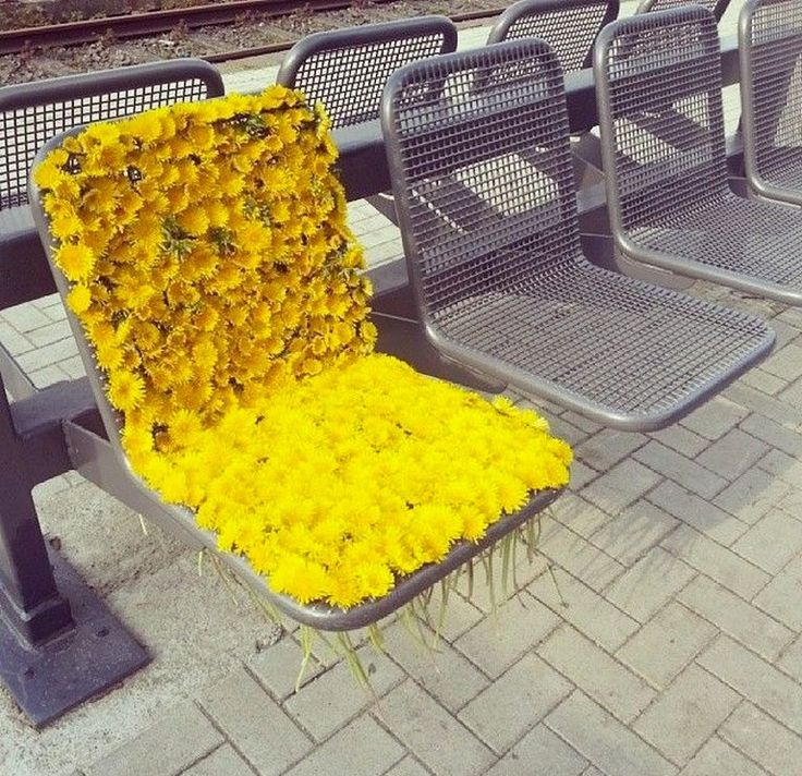 Best Spring In Your Step Images On Pinterest Nyc Pop Up And - Artist turns nyc trash cans into giant flower filled vases