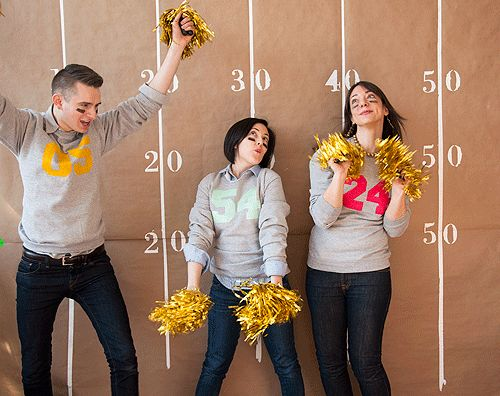 Superbowl Party ideas, D*S style. Complete with free coaster download + pom poms in motion. #party #superbowl #entertaining #football