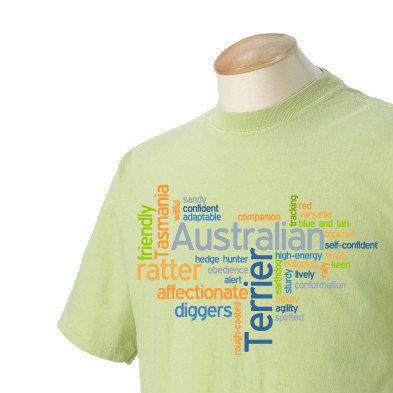 Australian Terrier Garment Dyed Cotton T-shirt