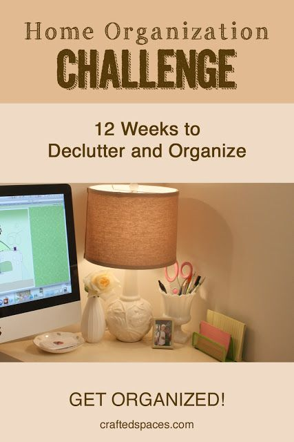 This is one big pipe dream, but I'll repin it since I am sure SOMEDAY I might want to reference it... Crafted Spaces: Home Organization Challenge