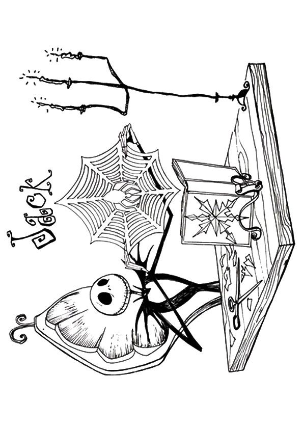 Find This Pin And More On Jack Skellington Top Nightmare The Pumpkin King Coloring Pages