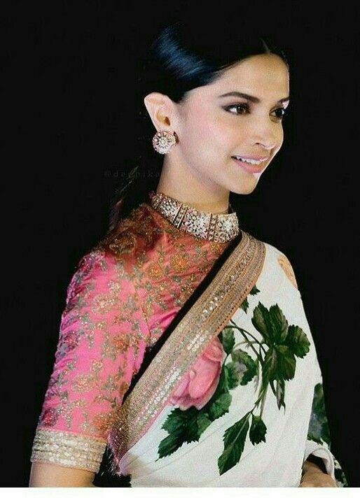 Deepika Padukone wearing a Sabyasachi saree