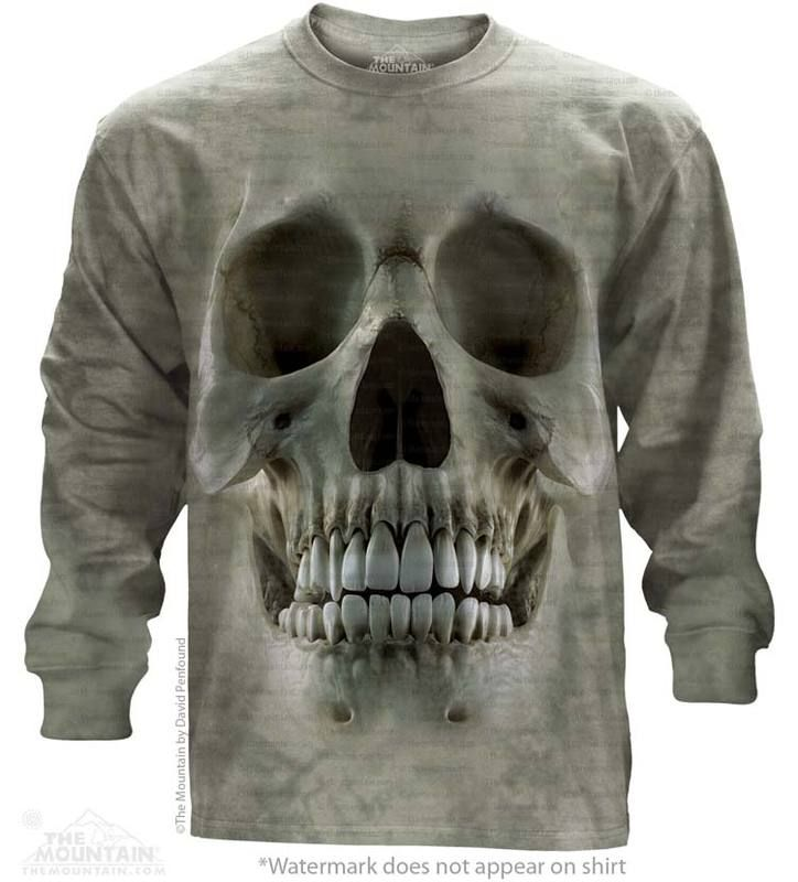 Skull Long Sleeve T-Shirt - Womens Clothing - - Women T-Shirt - T-Shirts for women - Mens Clothing - Mens t-shirts - t-shirt for men - Unisex T-Shirts - Cotton T-Shirts - Long Sleeve T-Shirts - Long Sleeve T-Shirt - Christmas Ideas - Presents for Christmas