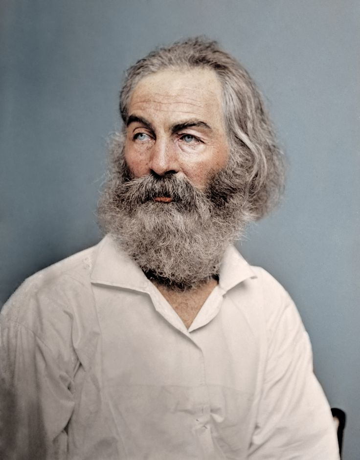 American Poet Walt Whitman, 1868, from: 52 Colorized Historical Photos That Give Us A New Look At the Past