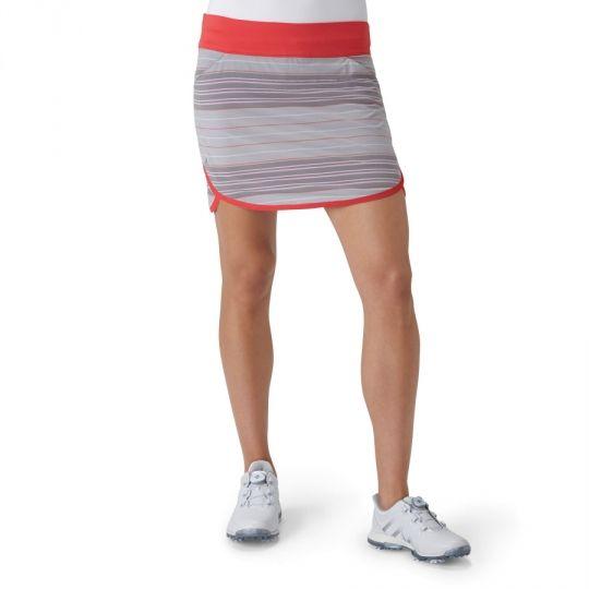 Adidas Ladies Rangewear Pull On Light Grey Heather/Core Pink Golf Skorts. More colors to choose at #lorisgolfshoppe