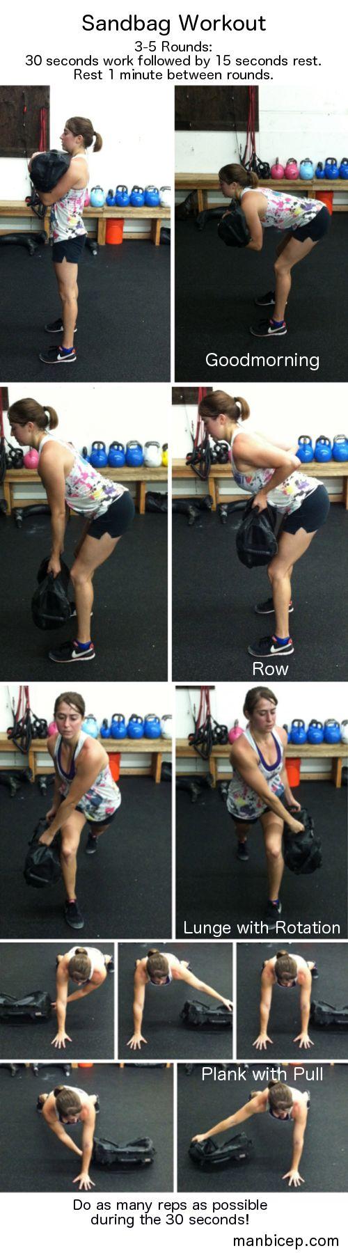 Sandbag workout!  Weight alternative!