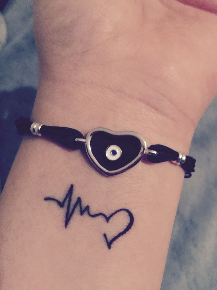 Wrist tattoo... Heartbeat, love, life