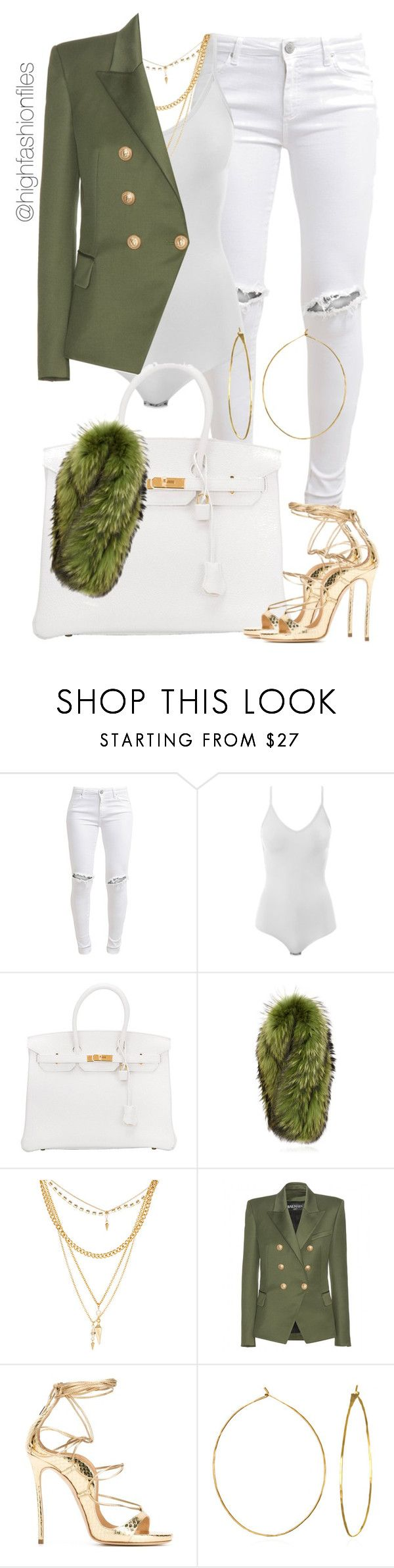 """On the Move"" by highfashionfiles ❤ liked on Polyvore featuring FiveUnits, Intimissimi, Hermès, Charlotte Simone, Ettika, Balmain, Dsquared2 and Phyllis + Rosie"
