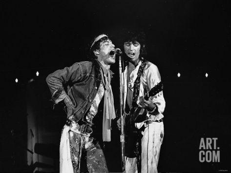 The Roling Stones: Mick Jagger Bill Wyman Photographic Print