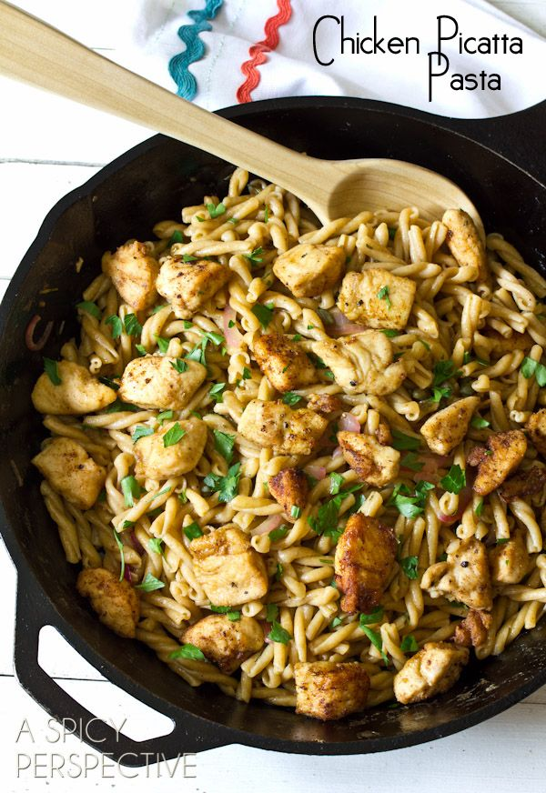 Chicken Picatta Pastaby a spicyperspective #Chicken #Pasta