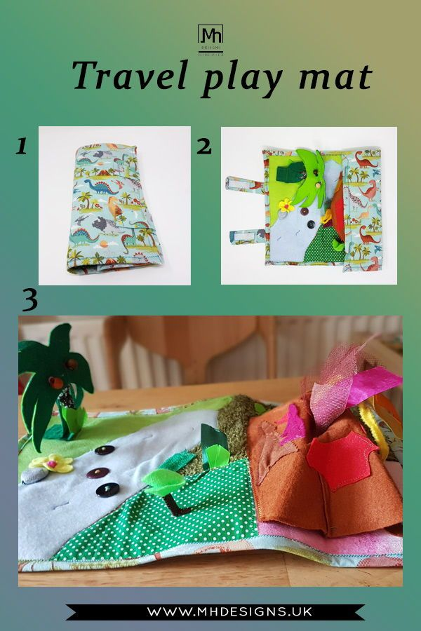 Dinosaur Land Play Mat Roll Up Quiet Play Mat Quiet Book Etsy Business For Kids Toddler Gifts Imaginative Play