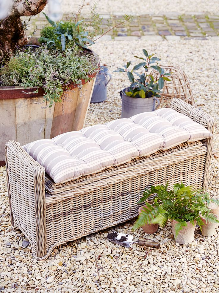 NEW Rattan Storage Bench