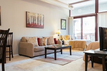 Check out this awesome listing on Airbnb: Studio loft with balcony Old Town - Lofts for Rent in Chicago