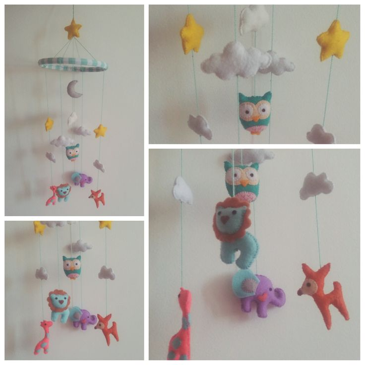 #Jungle #Felt #animals #babymobile