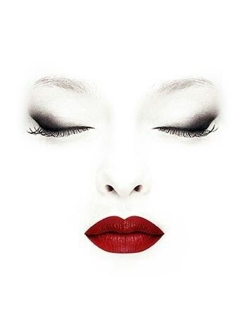 j-bomb says: this is mildly creepy, i get it, but at the same time it's so elegant. smokey eye + red lip? always.