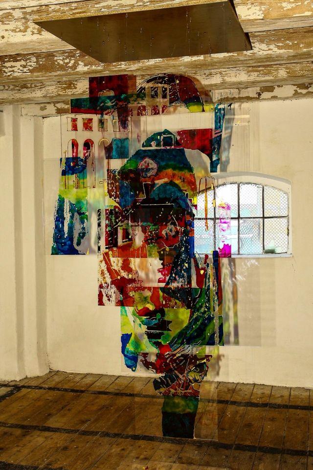 Ariadne - vitrail colors on plexiglass