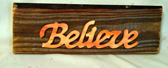 "Believe Signs Decor 17 Best Wood ""believe"" Signs Images On Pinterest  Cottage Style"