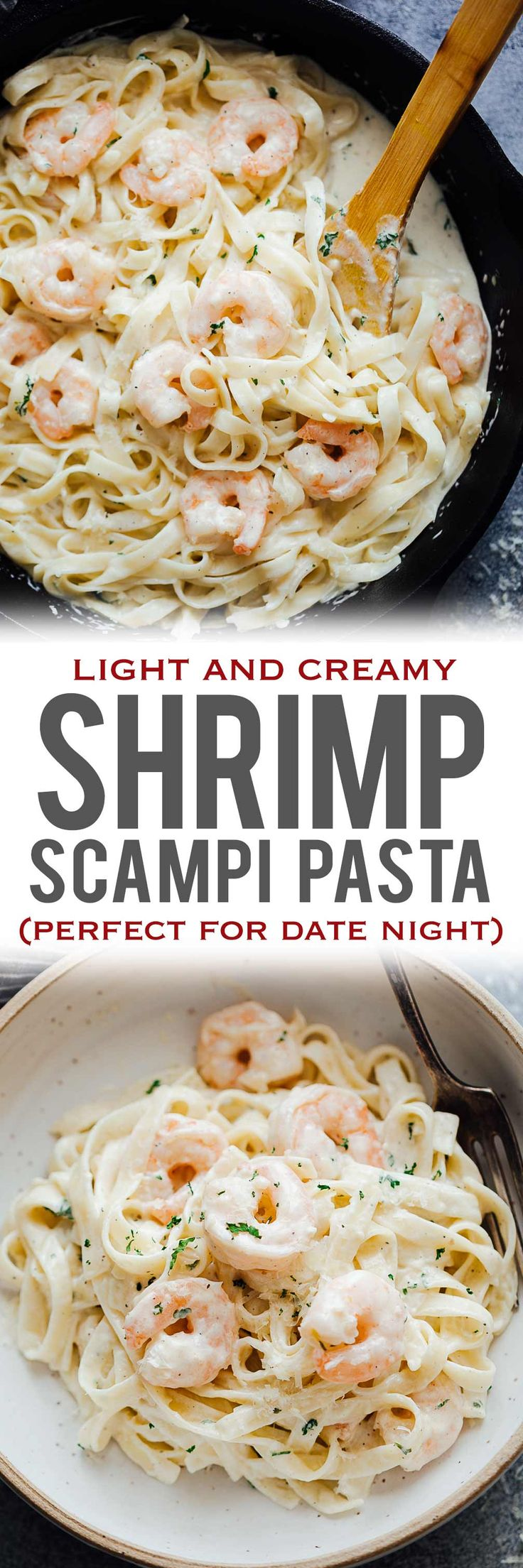 Creamy shrimp scampi pasta is a quick pasta recipe where prawn or shrimp is tossed in a garlic, butter and white wine sauce. Simple, yet indulgent, this recipe is perfect for date night or when you want fast, easy dinners. via @my_foodstory