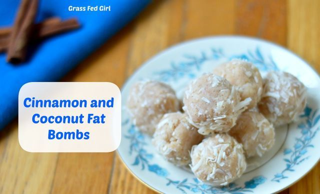 Coconut and Cinnamon Keto Fat Bombs (low carb, Paleo, dairy free, gluten free, sugar free) (Grass Fed Girl)