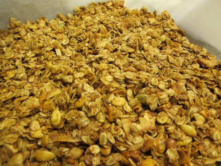 This Coconut Almond Granola Recipe is delicious and easy to make! Save some money on boxed granola.