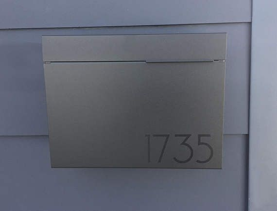 black larger modern and mailbox stainless steel design modern mailbox wall mounted - Modern Mailboxes