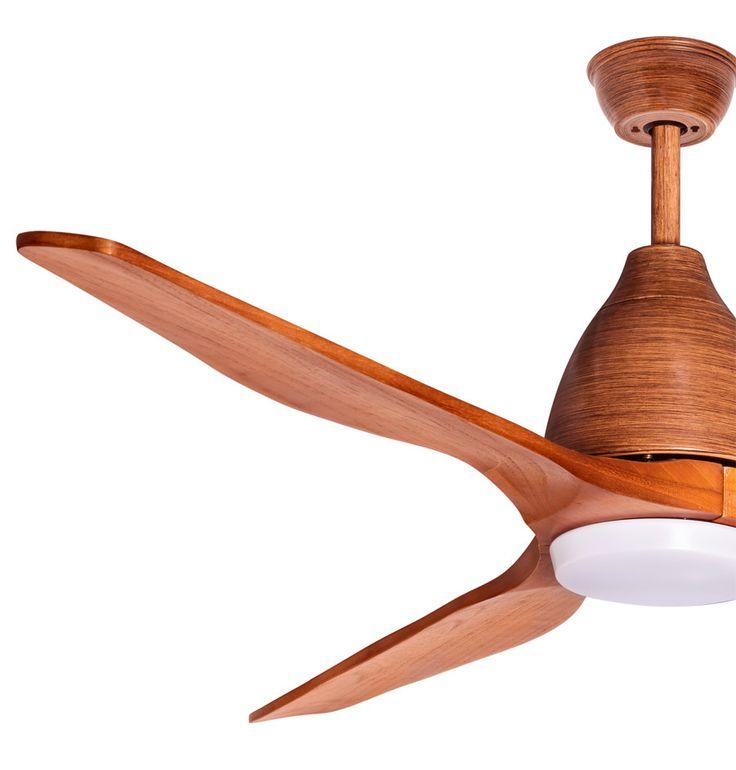 Moverick de Lba Home Appliance un ventilateur de plafond au pales en bois massif, et un corps laqué à la main. C'est un ventilateur équipé d'une plaque lumineuse LED puissante, d'une fonction memory, d'un moteur DC Hyper Silence, et d'une consommation de 4 watts en première vitesse ( ce qui est moins que le chargeur de votre téléphone en mode veille) ce ventilateur est