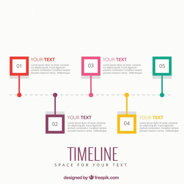 Template Infográfico Timeline Great Ideas