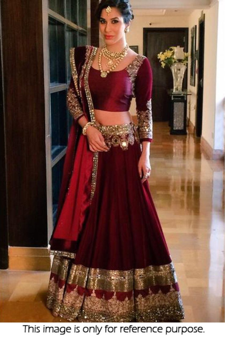 Bollywood Style Sophie Choudry Net and Moss Velvet Lehenga In Maroon Colour NC1470 Maroon Colour Net and Moss Velvet Fabric Designer Bollywood Lehenga Comes With Moss Velvet Fabric Blouse Which Can Be...