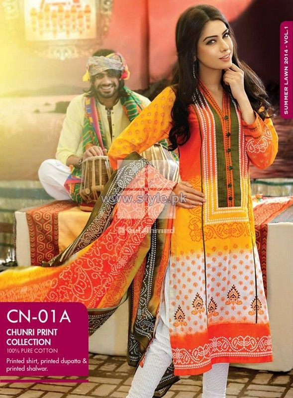 Gul Ahmed Chunri Collection 2014 For Summer
