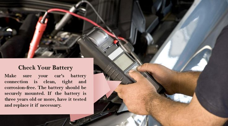 Check or Replace the Battery Extreme weather can be hard on the car battery. The colder the weather gets the more strength it loses. As a result, it can get harder to start the car. Make sure that the battery is not too old; if it's older than three or four years, it might be time to replace it with a new one. #studdedtires
