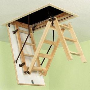 деревянная лестница на чердак