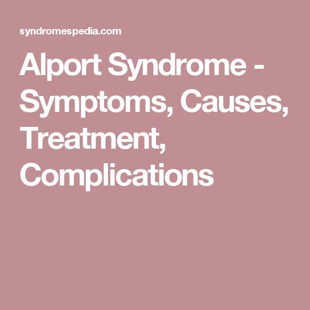 Alport Syndrome - Symptoms, Causes, Treatment, Complications