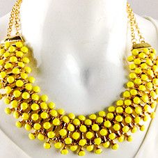 BELLA accessories yellow dot statement necklace