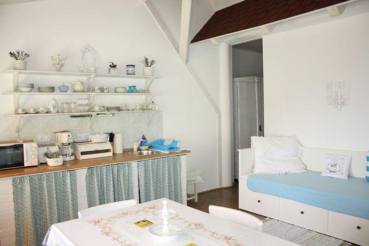 Nefelejcs apartman, nappali-konyha. Badacsony - Lake Balaton - Hungary