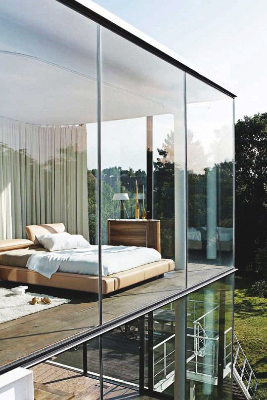 House decorating glass walls