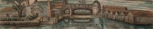 Dickens (Charles) Bleak House, first edition in book form, half-title, frontispiece, additional pictorial title and 38 plates by H.K.Browne, plates foxed, contemporary half morocco, fore-edge painting of a river scene, rubbed, [Weber pp.143-8], 8vo, 1853.