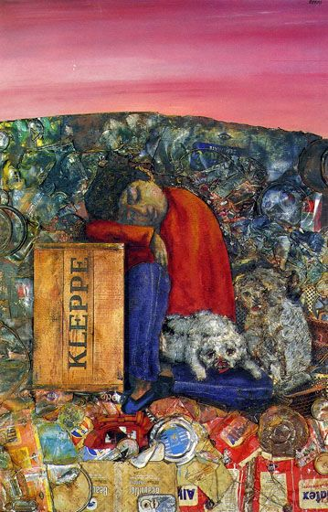 Juanito dormido (1974). Antonio Berni (1905-1981) was a figurative artist born in Rosario, Argentina. He is associated with Nuevo Realismo, a Latin American extension of social realism. His work, including a series of Juanito Laguna collages depicting poverty and the effects of industrialization in Buenos Aires, has been exhibited around the world.