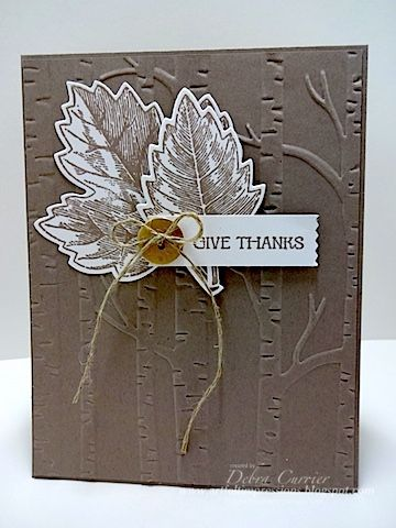 by Deb: Vintage Leaves, And Many More, Leaflets framelits, Woodland embossing folder, Washi Label punch, & more - all from Stampin' Up!