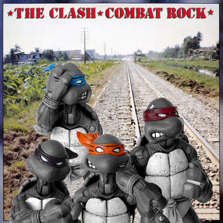 #CombatRock #TheClash #ninjaturtleparody #albumparody #1982 #JoeStrummer #MickJones #PaulSimonon #TopperHeadon  #albumart #albumcoverart #albumcoverlove #albumcovers #cdcover #musicart #musicandart #necaturtles #necatmnt  #turtlepower #tmnt #ninjaturtles #flashbackfriday