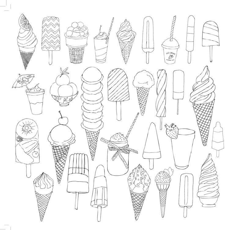 glaces ice cream coloriage adulte anti stress paris fashion adult coloring