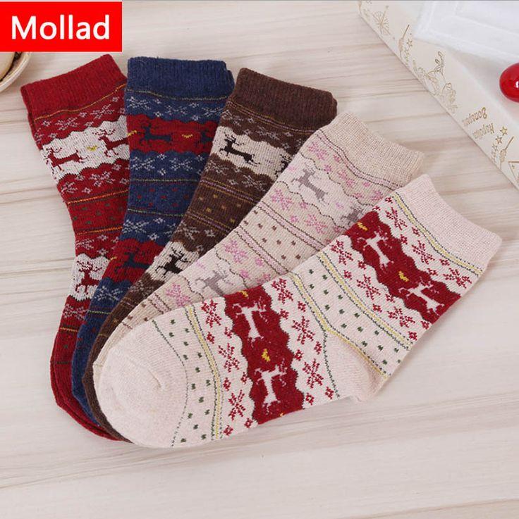 Mollad 2017women's socks lady christmas gift sock fashion winter cute wool 3d ladies crazy soks female thermal warm animal socks #Affiliate