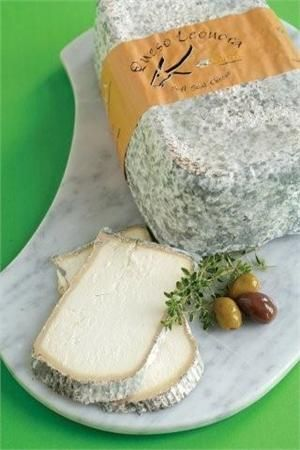 One of my new favorite cheeses: Leonora - Pasterized Goat Cheese from Leon, Spain. Pair with burnt fig jam & orange chips.