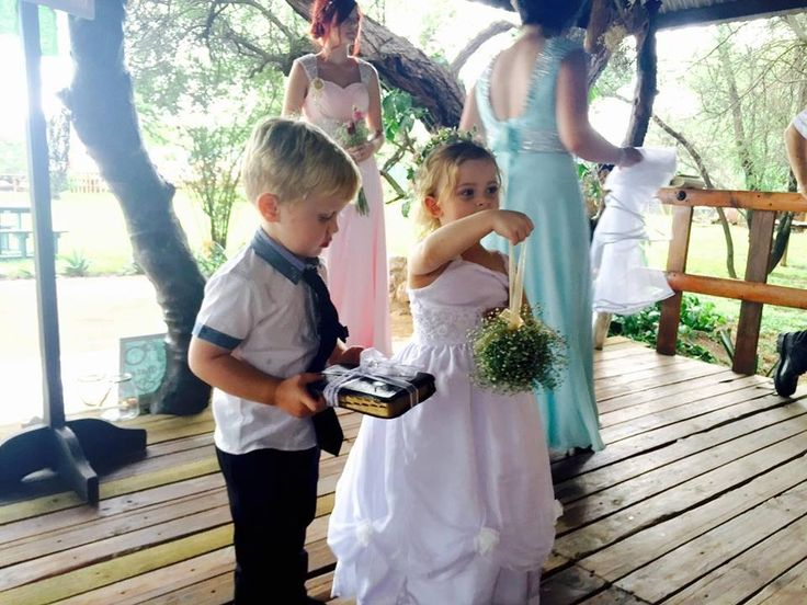 Ceremony - Chapel - Flower girl - white dress - Flower bouquet - Ring bearer - Bibile with rings - Farm wedding - Plaastroue #Burgerwedding #12March2016