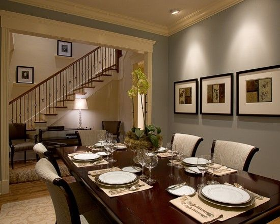 I think i found my new dining room color- Benjamin Moore Wedgewood gray