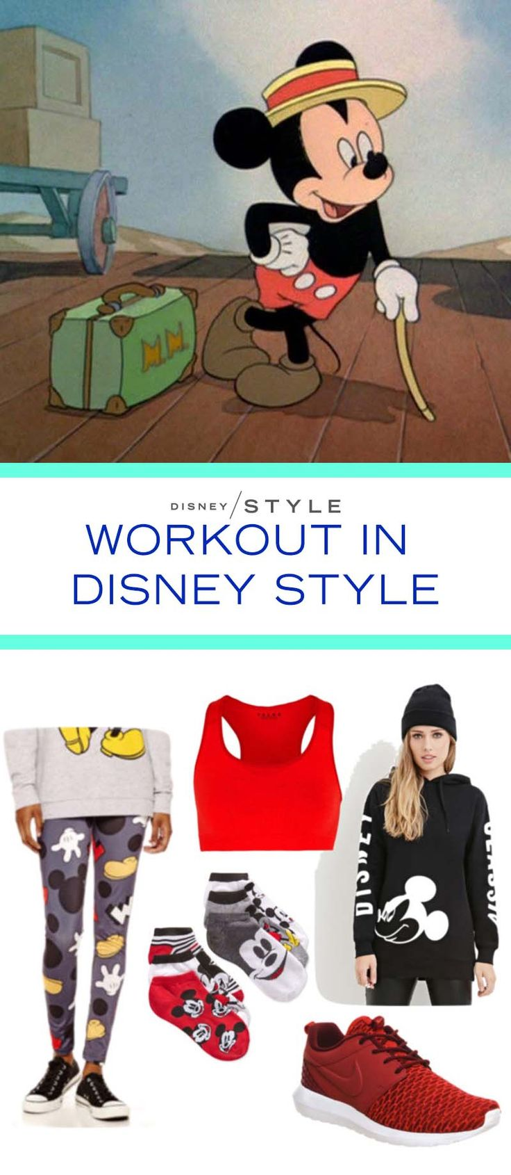 Workout in Disney style! These Mickey leggings are sure to get enough compliments to get your workout going. And after the gym, you can throw on a solid sweatshirt and rock this look all day. ---   http://tipsalud.com   -----