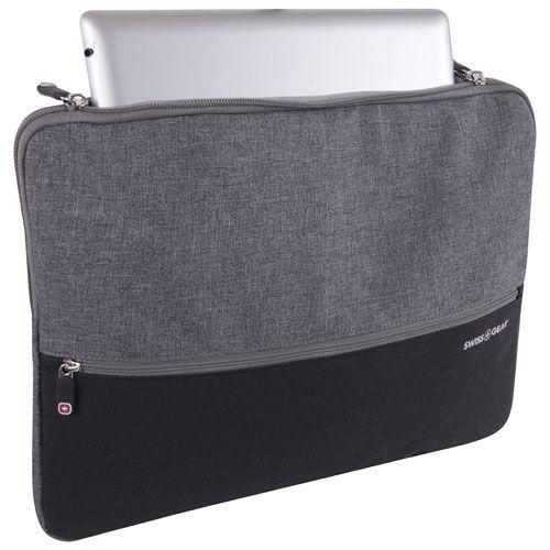 Protégez mieux votre appareil avec ce sac de SWISSGEAR pour portable. Il peut contenir une tablette ou un portable de 14 po et moins, et il est mince pour tenir dans l'étui de votre portable. Il comprend une poche à fermeture à gl... Obtenez la livraison gratuite sur les commandes de plus de 35 $.