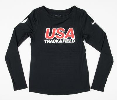 Nike USATF Girls' Pro Warm Long Sleeve
