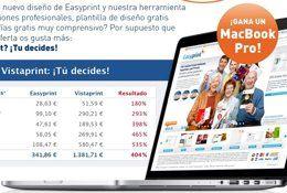 Sorteo gratis de un Apple MacBook Pro por Easyprint Easyprint especialistas en imprenta online, organiza desde su página de Facebook el sorteo gratuito de un Apple Macbook Pro con las siguiente características: Pantalla de 13 pulgadas. Procesador de 2.5 Ghz. 4GB de memoria RAM. Disco duro de 500GB http://www.sorteosyregalosgratis.com/sorteo-gratis-de-un-apple-macbook-pro-por-easyprint